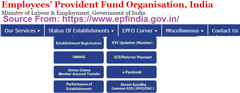 epfindia website
